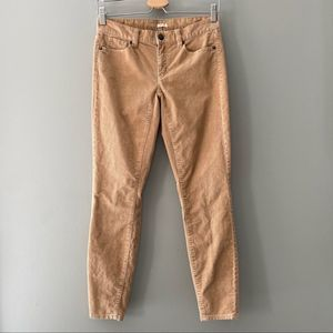 J. Crew Factory Toothpick Corduroy Ankle Pants 24